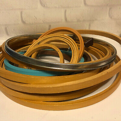 Embroidery Hoops Plastic Wood Vintage Lot Of 16 Misc Size