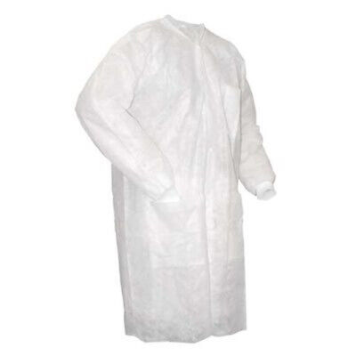 Non-Woven Disposable White Dust/Lab Coats 100pcs