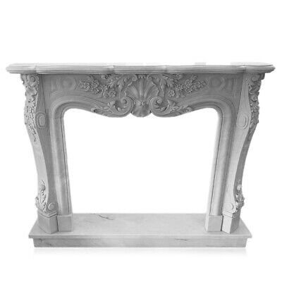Kamin Weißer Marmor Carrara Stil Ludwig Xvi. Classic White Marble Fireplace L150