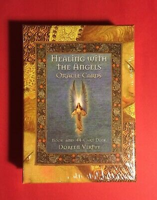 Healing With The Angels Oracle Cards by Doreen Virtue NEW 44 Card Deck and Book