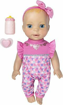 Luvabella Newborn Interactive Baby Doll Real Expressions Movement Blonde Hair