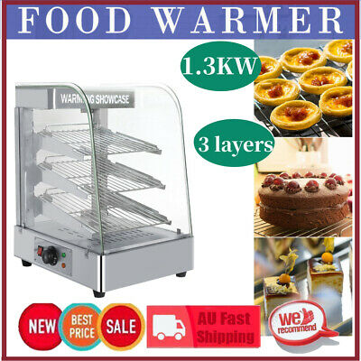 Commercial Food Pizza Pie Pastry Soup Warmer Hot Display Showcase Cabinet NEW