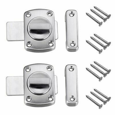 Sumnacon Safety Door Latches 2 Pcs Solid Rotate Bolt Latch Gate Latches/Lock ...