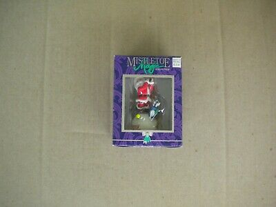 Vintage 1990s Santa Claus Golfing Mistletoe Magic Collection New in Box