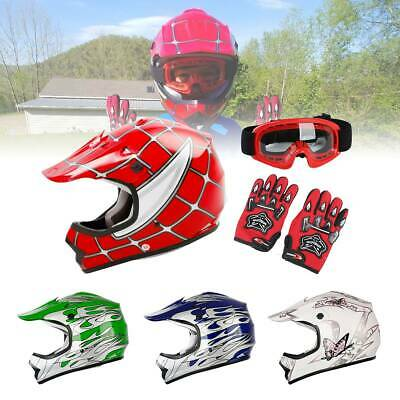Helmet DOT Youth Kids Motorcycle Full Face Offroad Dirt Bike ATV Size S M L XL