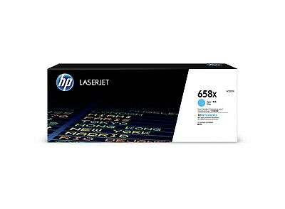 Hewlett Packard 658X CYAN LASERJET TONER CARTRIDGE 28K