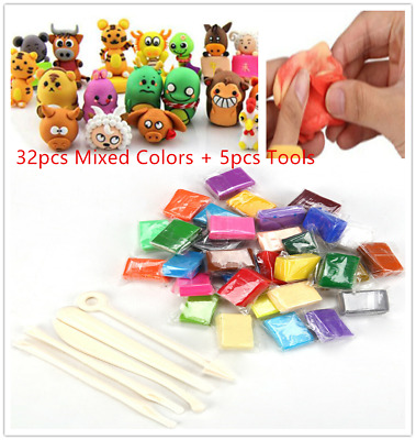 32X Mixed Color Set Oven Bake Fimo Polymer Soft Clay Model Moulding DIY Tool Toy