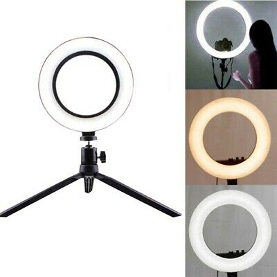 "4.6"" LED Ring Light Studio Photo  Selfie Camera Video Dimmable Lamp Tripod Stand"