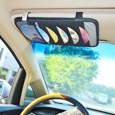 Car Visor Vehicle CD DVD Disc Organizer Folder Triple-layer, Storage Holder