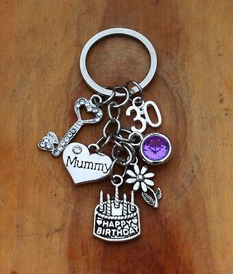 Personalised Birthday Gift keyring mum Daughter Sister -18th 21st 30th 40 50 /*