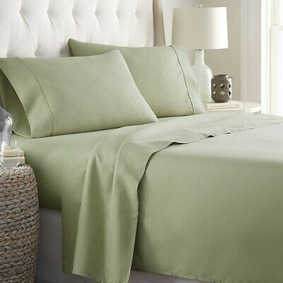2100 COUNT EGUPTIAN COMFORT 6 PIECE BED SHEET SET 14/'/' DEEP POCKET ALL SIZE