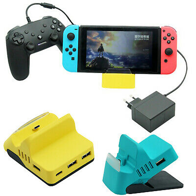 4-Part USB Charging Dock Charger Station Base Stand HUB for Nintendo Switch Lite