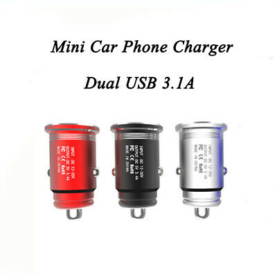 5V 3.1A Car Fast Charger Double USB Twin 2 Port Dual Cigarette Socket Lighter
