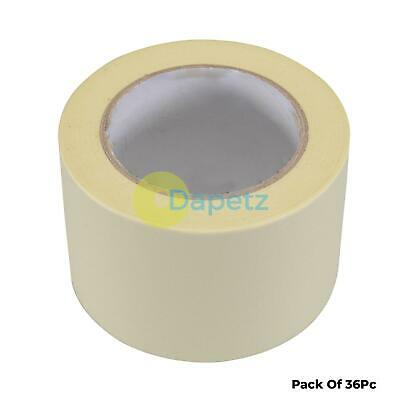36x Masking Tape Paint Decorate Craft Low Tack Multi-purpose DIY 75mmx50m Roll