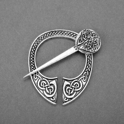 Celtic Brooch Pin Clasp Medieval Viking Pennanular Cloak Norse Knot Jewelry