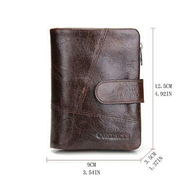 Leather Card Holder Zip Coin Purse Bifold Trifold Wallet new