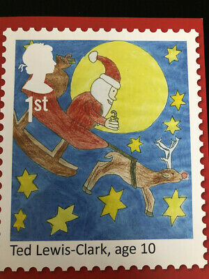 25 First Class Royalmail Stamp Christmas 2017