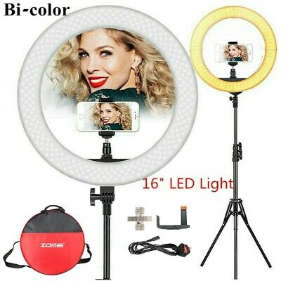 """16"""" LED Ring Light With Stand Phone Holder Make-up for Camera iPhone YouTube UK"""