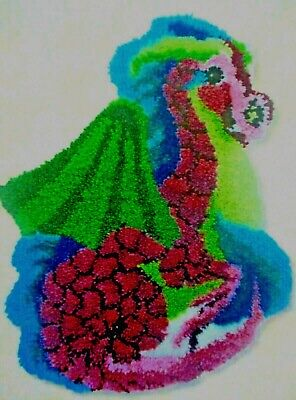 """Latch hook rug kit """" Baby dragon"""" by Herschners  UK seller"""