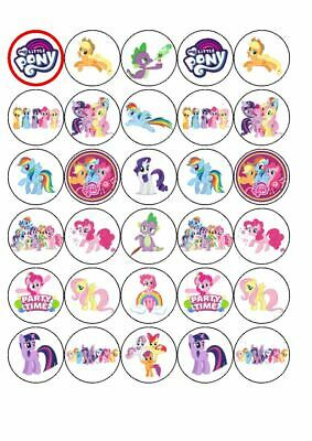 Inspired by MY LITTLE PONY Rice Paper cake toppers - 3.5cm