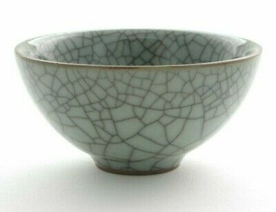 Crackle Glaze Blue Chinese Tea Cups (for green yellow white puer tea) HANDMADE