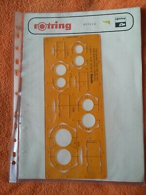 rotring Rotring Drawing Template Stencil 840 629 Circles 1-24mm New From Old