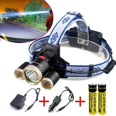 Super Bright 900000LM 3X T6 LED Headlamp Rechargeable 18650 Headlight Head Torch