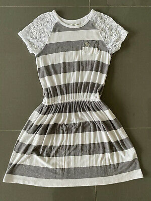 Abercrombie Kids Girls Striped Dress Age 11-12 Years