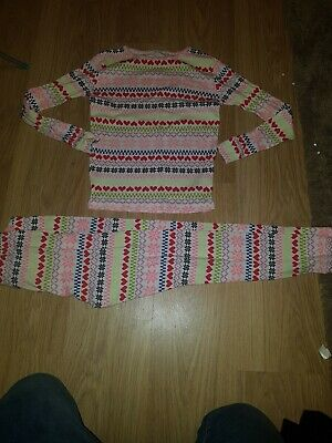 Girls GAP Multi coloured patterned long sleeve pjs......age 12 years