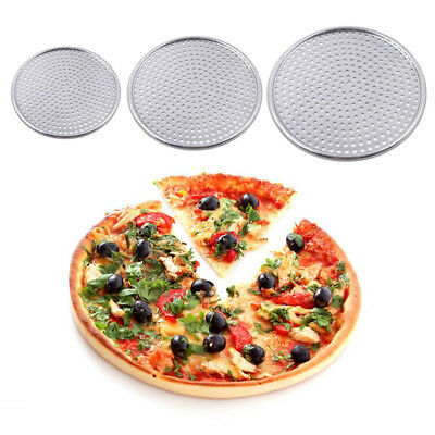 Aluminium Alloy Nonstick Pizza Baking Pan Tray Pizza Plate Dishes Holder N7