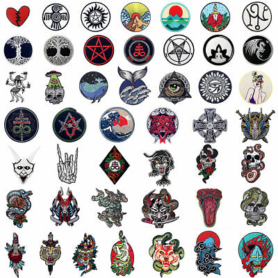Lots New Embroidered Patches Clothing Iron Sew On Appliques Christmas Gifts 1225