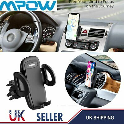 2019 Mpow Phone Holder Universal in Car 360 Rotating Air Vent Mount Stand Cradle