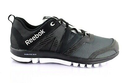 MEN'S REEBOK SUBLITE Duo LX Running Shoes Trainers Black