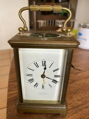 ANTIQUE FRENCH CARRIAGE CLOCK MARKED CR Boas Harrisburg PA. Parts Or Repair