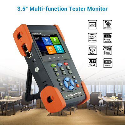 """3.5"""" Touch Screen CCTV Monitor Tester POE 8MP 4k IP Camera TVI Test Monitor 3Y"""