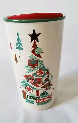 2019 Disney Parks Disneyland  Christmas HAPPY HOLIDAYS Starbucks Tumbler Mug CUP