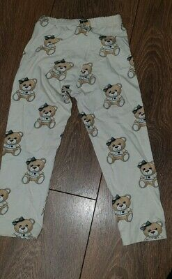Girls Monnalisa Teddy Leggings Age 4 3-4 years Moschino Spanish designer