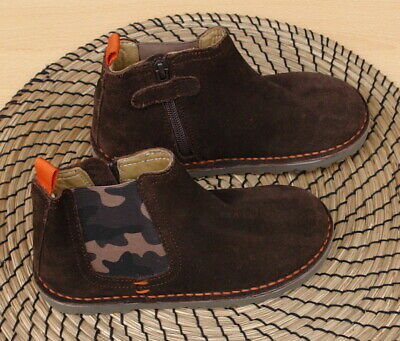 NEW Kids Boys Next Suede Shoes Toddler Chelsea Ankle Boots Size UK12 EU31