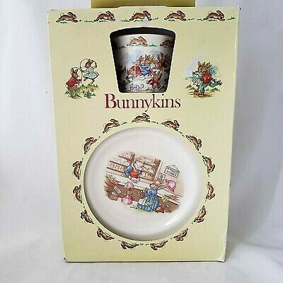 Royal Doulton Bunnykins Childrens Set 3 Pieces Bowl Mug Plate Vtg 1981