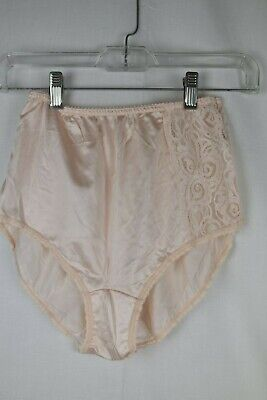 Vintage Bali Pink Satin High Waisted Panties Nylon Size 5