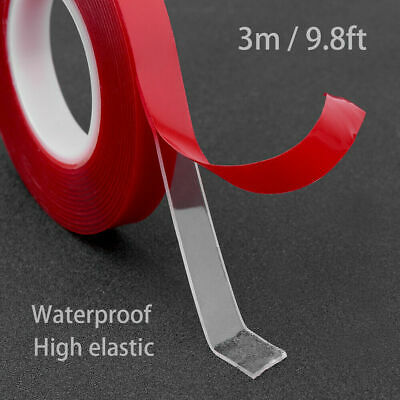 300cm Transparent Silicone Double Sided Tape Sticker High Strength For Car S3R2