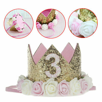 Baby Princess Decoration Boy Party Girl Headband Birthday Flower Crown Tiara
