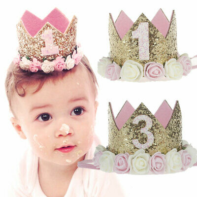 Baby Princess Flower Girl Crown Tiara Boy Birthday Headband Party Decoration