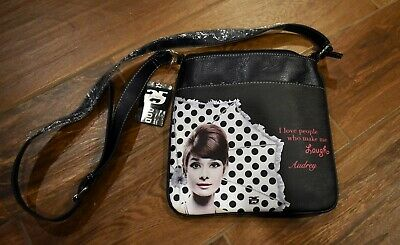 "Licensed New Audrey Hepburn /""Audrey/"" Key Chain Coin Purse"