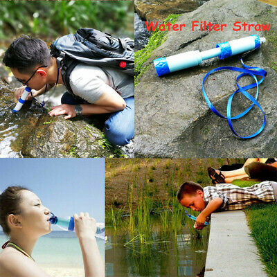 Outdoor Water Filter Straw Filtration System Purifier for Travel Camping Hiking