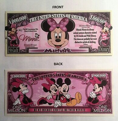 RARE: Minnie Mouse $1,000,000 Novelty Note, Cartoons Buy 5 Get one FREE
