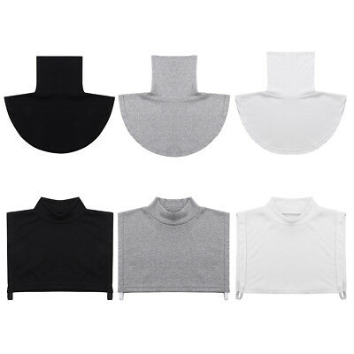 Womens Faux Turtleneck False Half Top Blouse Dickey Collar Bib Neck Cover Gifts