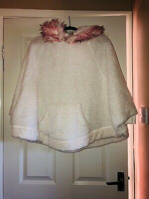 Girls Dressing Gown Poncho Age 11-12 Years From Next