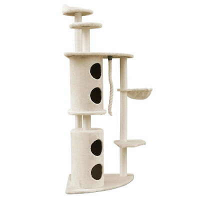 170cm Multi Level Cat Scratching Post Tree Post House Tower-Beige