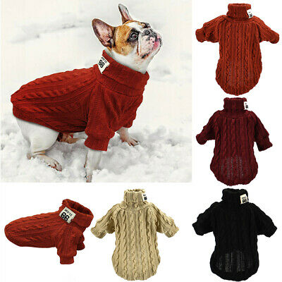 Knitted Dog Sweater Chihuahua Clothes Winter Knitwear Pet Puppy Jumper Clothes